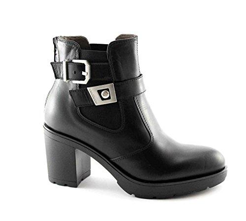 BLACK JARDINES 16520 negro con cremallera botas mujer botas de hebillas lisas 35