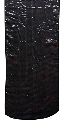 KVR Overall Sequin covered table runner for wedding, party, dining and home decoration (Sequin-Black Color, 10 ft long x 1 ft wide)