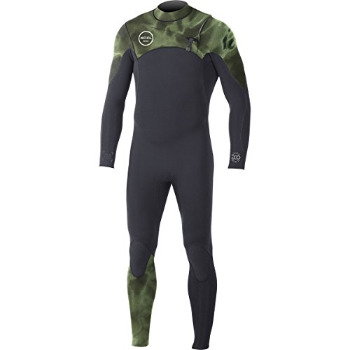 XCEL Hawaii Comp TDC Eco 3/2 Wetsuit - Men's Black/Camo Green, - Comp Wetsuit