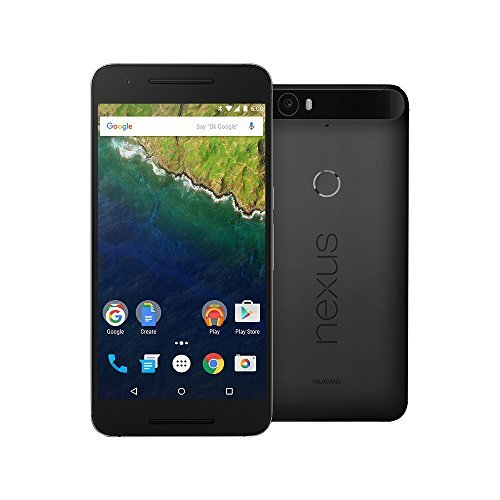 Huawei Google Nexus 6P 64GB 5.7-Inch Reversible USB Type-C 4G LTE Factory Unlocked (GRAPHITE) - International Stock No Warranty