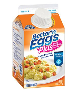 CRYSTAL FARMS LIQUID EGG WHITES BETTER'N EGGS PLUS OMEGA3 14 OZ CARTON PACK  OF 4