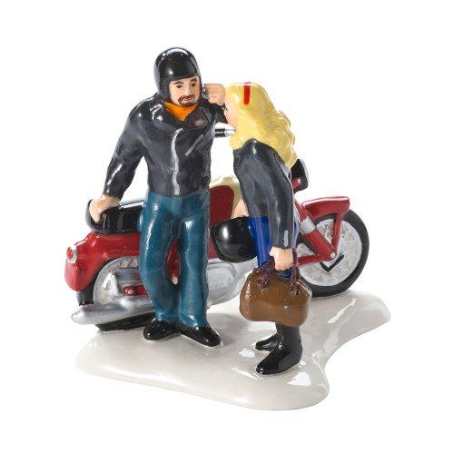 Road Trip Figurine - Department 56 Snow Village Harley Road Trip Accessory Figurine, 3.35 inch