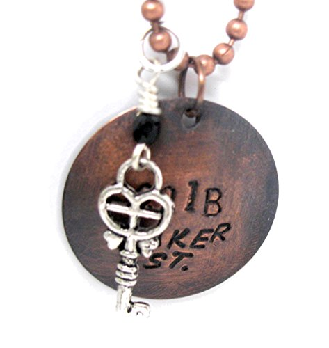 Hand Stamped Antiqued Charm - 4