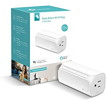 Kasa Smart Wi-Fi Plug, 2-Outlets by TP-Link - Double the Outlets, Control from Anywhere, Works with Amazon Alexa and Google Assistant (HS107)