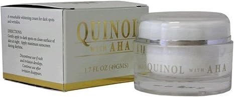 quinol anti aging moisturizer cream with aha (1.7 oz) Lilian Fache Hyaluronic Acid Topical Wrinkle Erasing Serum, 30 ml.