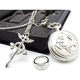 Fullmetal Alchemist Pocket Watch & Necklace & Ring
