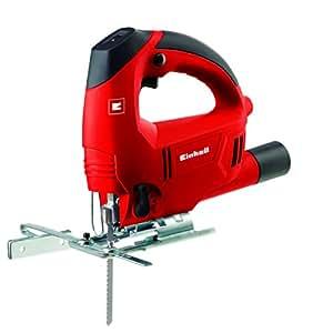 Einhell TC-JS 80 E - Sierra de calar electrónica, hoja de sierra para madera, aspiración de polvo, 600 W, 230 V, color rojo y negro