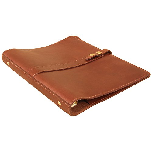 Leather Notebook One Inch Three Ring Binder Folder Brown USA Made No 19