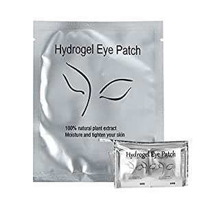 100 Pairs Under Eye Eyelash Extension Gel Patches Kit, Lint Free Eye Mask Pads Lash Extension Beauty Tool with Transparent Cosmetic Bag