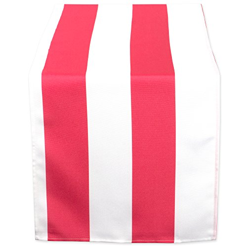 DII Coral Cabana Stripe Outdoor Table Runner 14x108