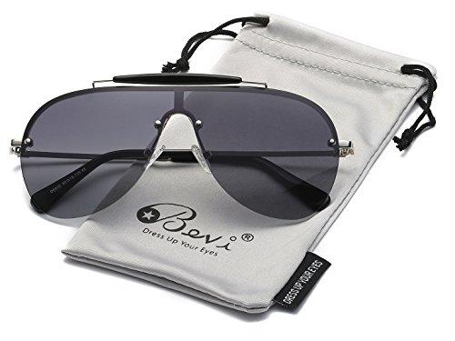 Bevi Polarized Cat Eye Metal Sunglasses - Sunglasses Spring