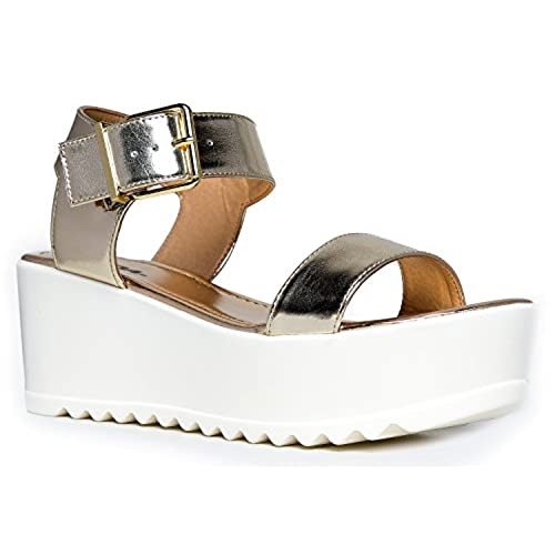 edbb1b8f67d9 80%OFF Women s Platform Buckle Sandal - Open Peep Toe Fashion Chunky Ankle  Strap Shoe