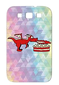 Red Miscellaneous Flames Sweet Fire Pie Delete Candles Blow Out Funny Cute Birthday Dragon Cute Dragons For Sumsang Galaxy S3 Case Cover