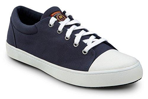 Skechers Heren Patrick Zachte Doek Teen Antislip Skateschoen Navy / Wit