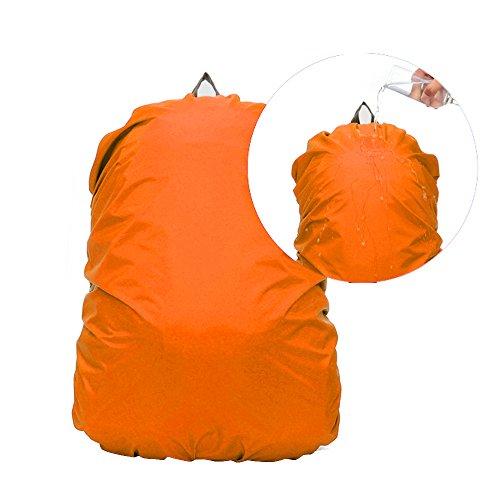 IC ICLOVER 30-40L Travel Rucksack Wterproof Bag Rain Cover Ruck Backpack Poncho For Outdoor [Orange]