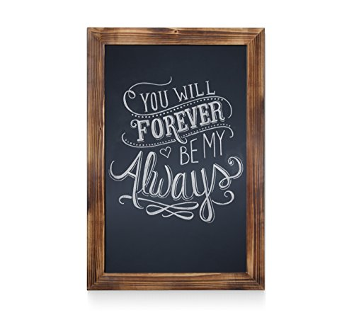 HBCY Creations Rustic Torched Wood Magnetic Wall Chalkboard, Extra Large Size 20