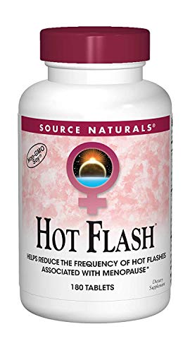 Source Naturals Hot Flash Premenopausal & Menopausal Symptom Support - Plant-Based, Herbal Relief with Black Cohosh, Soy, Don Quai & Chaste Tree - 180 Tablets