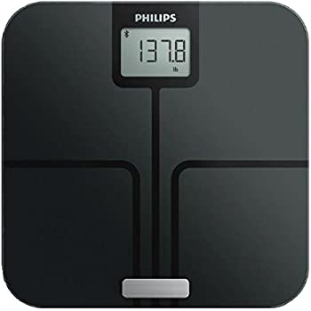Philips Smart Body Analysis Scale for BMI, Body Fat and Weight measurements, with Large Digital Display, Bluetooth connectivity, Black