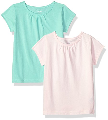 Carter's Baby Girls' 2-Pack Tees, Light Pink/Mint, 24 Months ()