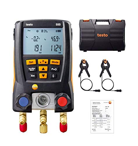 Electronic Refrigerant Meter air Conditioning Qressure Gauge Testo 550 Automotive air Conditioning Digital Fluoride Table