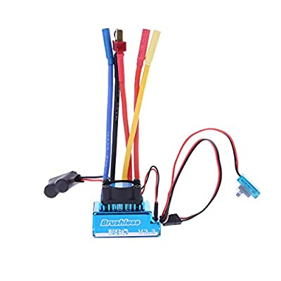 Leidersty 45A 60A 80A 120A Esc Electric Speed Controller Dust-Proof Fo RC Car/Boat Part Waterproof: Electronics