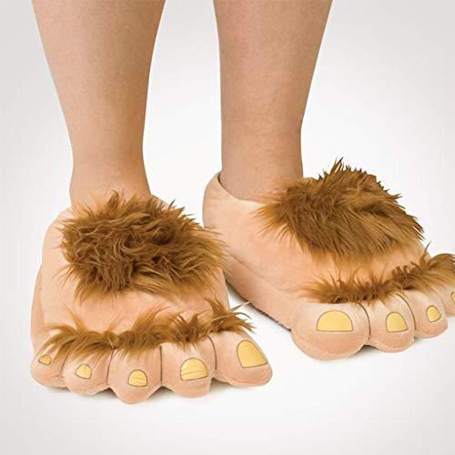 Morbido Pantofole Baosity Inverno Per Adulti Paio Peluche B Leggero Accessorio Marrone Confortevole Casa wxTZXqB