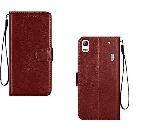 covernew vintage leather Flip Cover for lenovo k3 note  k50a40   vintage executive brown