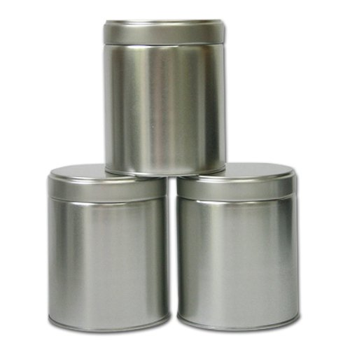 Wide Twist Top Tea Tin (2 Cup / 16oz) - Set of 3 (Loose Leaf Tea Storage Containers compare prices)