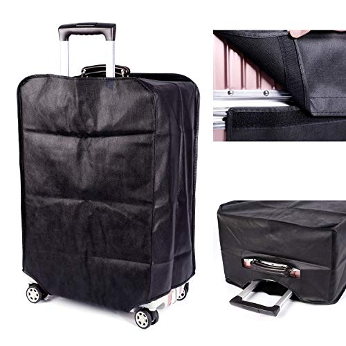 Travel Luggage Cover Plain Color Suitcase Cover,3 Colors,Fits 28 Inch,Black by CXGIAE (Image #1)