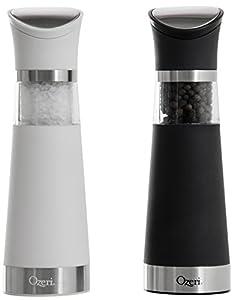 Ozeri Graviti Pro Elektrische Salz- und Pfeffermühle im Set, BPA-frei