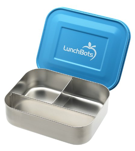 Lunchbots Stainless Steel Food Container Trio Blue