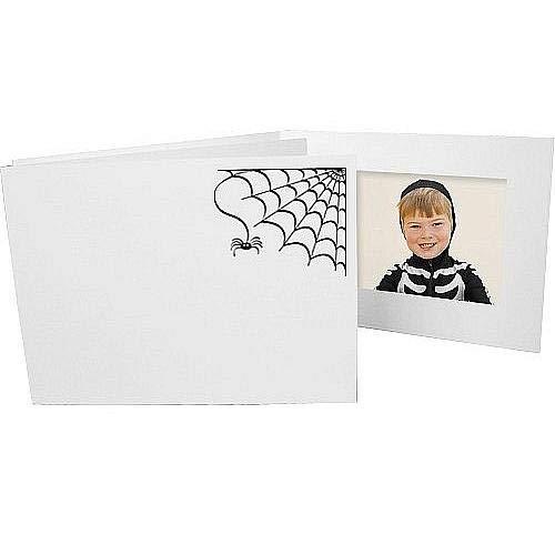 Halloween Spiderweb Event Photomount Folder 6x4 Single Frame Sold in 25s - 4x6 -
