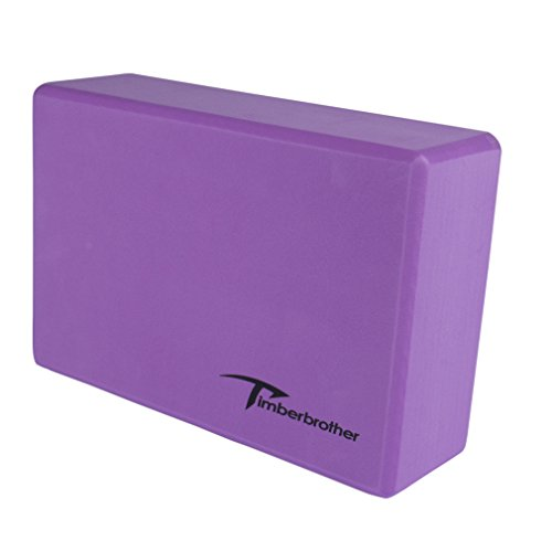 "Timberbrother Yoga Block (1 PC or 2 PC) - Choose Your Color & Size (Dark Purple, 9"" x 6"" x 3"" (1pc))"