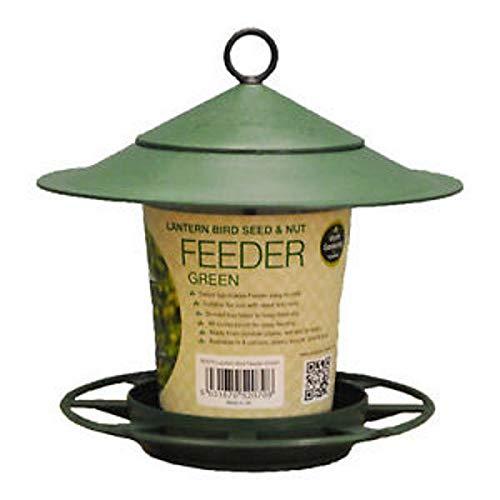 - Garland Garden Hanging Lantern Bird Seed & Nut Feeder Green