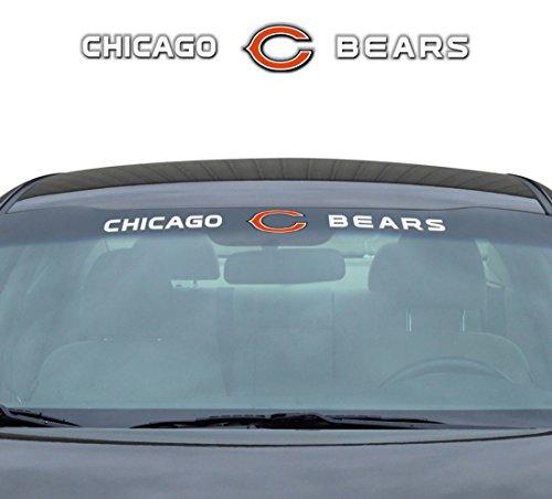 (Team ProMark NFL Chicago Bears Windshield Decal, Orange, Standard)