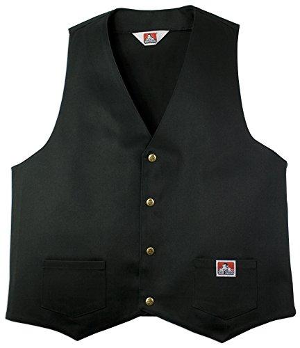Ben Davis Solid Black Vest (3X-Large)
