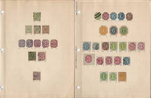 Germany & States Stamp Collection on 8 Pages, Early Classics, DKZ