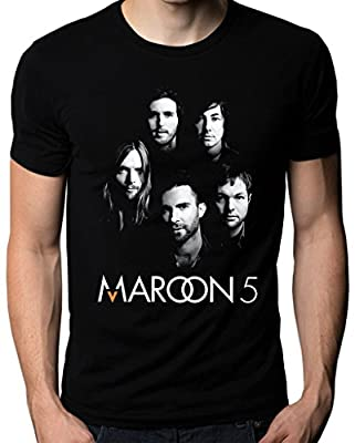 Maroon 5 Five V Adam Levine Band Face Logo Men's T-Shirt