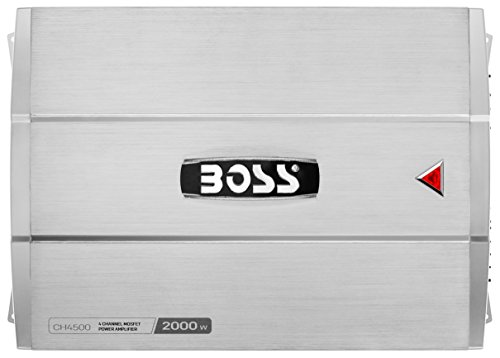 BOSS AUDIO CH4500 CHAOS 2000-Watt Full Range, Class A/B 2 to 8 Ohm Stable 4 Channel Amplifier with Remote Subwoofer Level Control