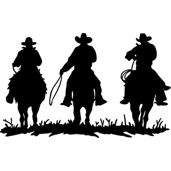 Amazoncom Decalgeek Cowboy Cowboys Horse Riders Vinyl Wall Decals