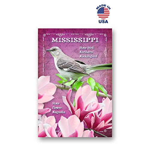 MISSISSIPPI BIRD AND FLOWER postcard set of 20 identical postcards. MS state symbols post cards. Made in USA.