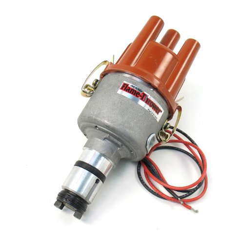 Pertronix D186604 Flame-Thrower VW Type 1 Engine Plug and Play Non Vacuum Cast Electronic Distributor with Ignitor Technology (Distributor Ignition Part Type)