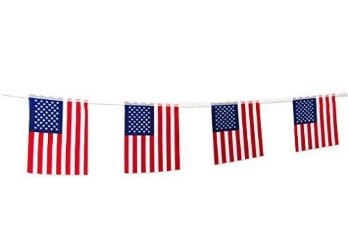 TSMD 100Feet American Flag Banner String,76pcs USA Pennant Flags Banners for Grand Opening,Olympics,Bar,Party Decorations,Sports Clubs,Restaurants,Festival (8.2
