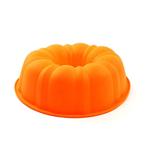 Great Pumpkin Bundt Pan (YHSWE Nonstick and Heat Resistant Reusable Silicone Halloween Theme Pumpkin Cake Mold)