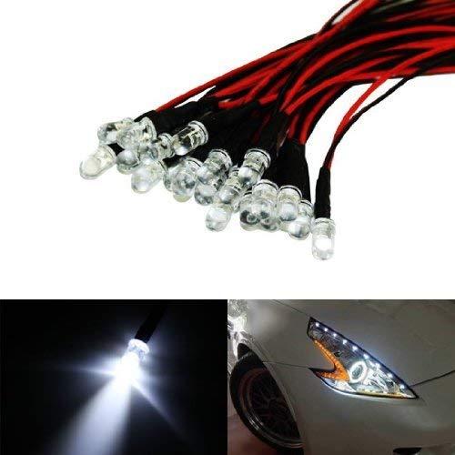 iJDMTOY (20) Xenon White 12V LED Emitter Lights For Headlights Daytime Running Lights Angel Eyes Fog Retrofit DIY use