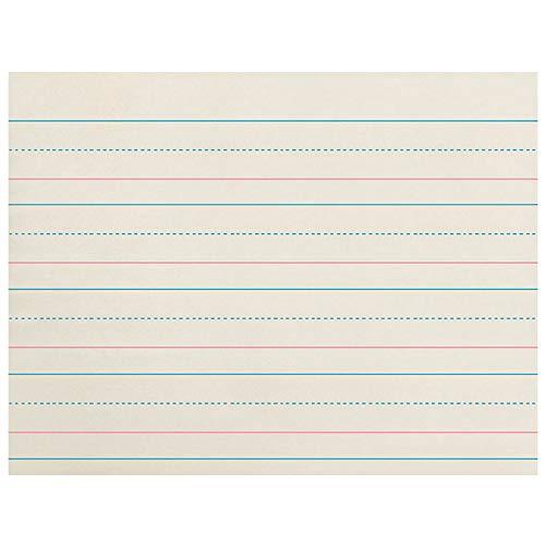 Pacon PACZP2610BN Zaner-Bloser Newsprint Handwriting Paper, Dotted Midline, Grades Pre-K & K, 1-1/8
