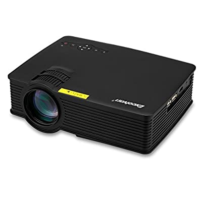 Excelvan EH09 mini LED Multimedia Portable Projector 800 Lumens Support 1080P HDMI/USB/SD/AV/3.5mm with Free HDMI cable for Home Cinema Theater Games TV Movie Entertainment