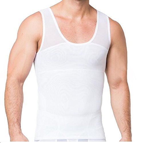 5d1c81ad Gynecomastia Compression Shirt to Hide Man Boobs Moobs Shapewear (white, M)  - Buy Online in Oman. | Misc. Products in Oman - See Prices, Reviews and  Free ...