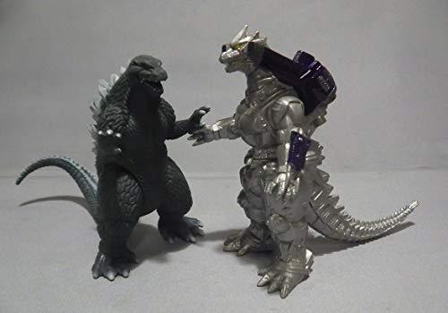 Godzilla Vs MechaGodzilla 2002 Mini Battle-G Figure~Godzilla and MechaGodzilla (Toys Godzilla 2002)