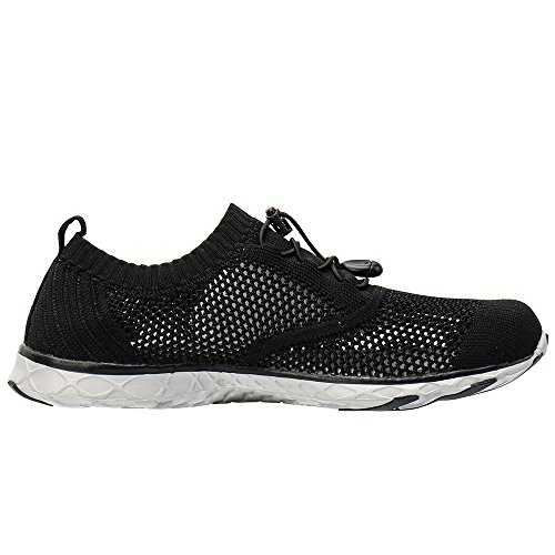 ALEADER Mens Adventure Aquatic Water Shoes Black/Gray 9 D(M) US